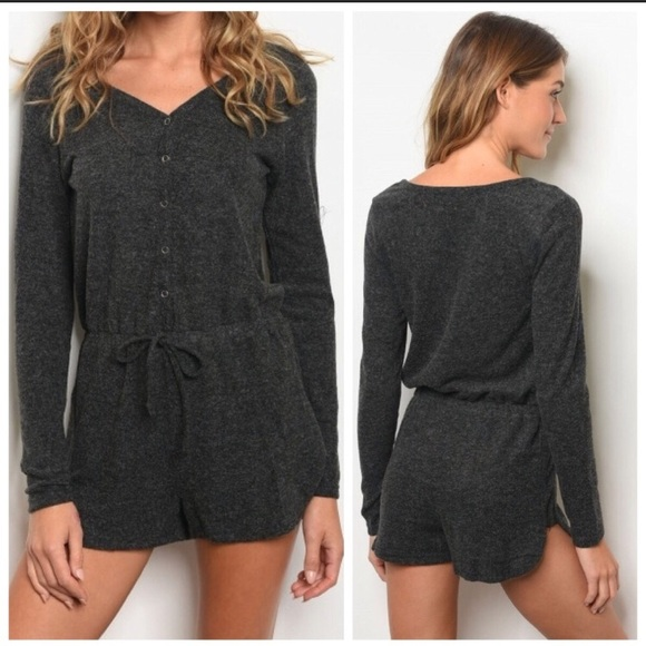 ac4fa08b3e33 charcoal romper 🖤. Boutique. Kalli Collection